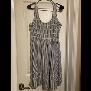 $5🚨 Old Navy Grey Striped Summer Dress